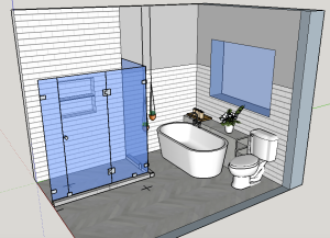 In progress project - March 2015 - Bathroom Remodel for Australian client